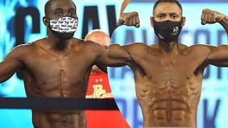 'I AM THE SMOKE' Terence Crawford-Kell Brook Weigh in both looking SHREDDED