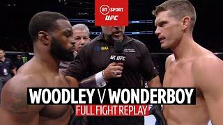 Woodley v Wonderboy full fight replay | Controversial result, but what a fight!