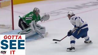 GOTTA SEE IT: Brayden Point Dazzles With Spectacular Move, Beats Anton Khudobin