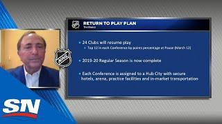 Gary Bettman Lays Out NHL's Return To Play Plan, 2020 Draft Lottery Details & Playoff Format