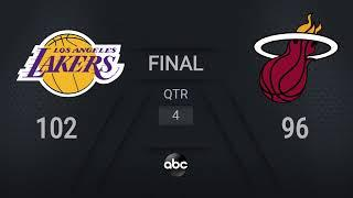 Lakers @ Heat Game 4   NBA on ABC Live Scoreboard   #NBAFinals Presented by YouTube TV