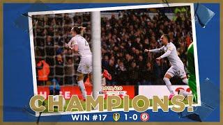 Champions! | Extended highlights | Win #17 Leeds United 1-0 Bristol City