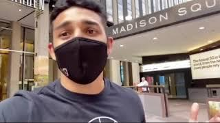 'YO LOMA WHERE YOU AT? BRING MY BELTS!' - TEOFIMO LOPEZ CALLS OUT LOMA OUTSIDE MSG WHO THEN RESPONDS