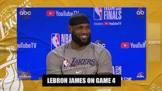 LeBron James calls Lakers' Game 4 win one of the biggest of his career | 2020 NBA Finals