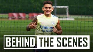 Torreira is back in training!   Behind the scenes at Arsenal training centre