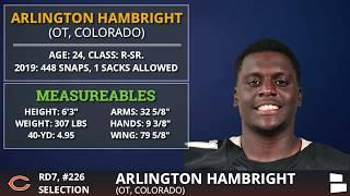 Chicago Bears Pick Arlington Hambright & Lachavious Simmons In 7th Round of 2020 NFL Draft