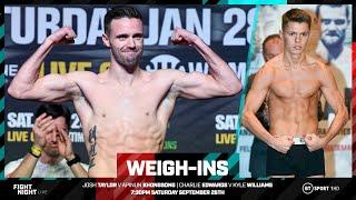 Live weigh-ins: Josh Taylor v Apinun Khongsong, Charlie Edwards v Kyle Williams