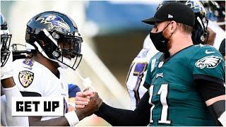 Breaking down the Lamar Jackson vs. Carson Wentz battle in Week 6 | Get Up