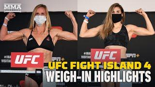 UFC Fight Island 4 Official Weigh-In Highlights - MMA Fighting