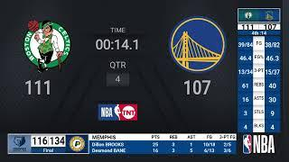 Celtics @ Warriors | NBA on TNT Live Scoreboard