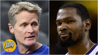 Steve Kerr clarifies his comments on Kevin Durant's last season with the Warriors | The Jump