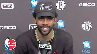 Kyrie Irving on the Brooklyn Nets' win vs. the New York Knicks | NBA on ESPN