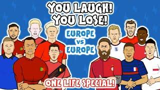 YOU LAUGH, YOU LOSE ft. Lewandowski, CR7, Mbappe & more!  Onefootball x 442oons