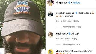 Steph Curry Reacts To Lebron James' New Space Jam Title & Logo