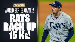 Rays RACK UP 15 strikeouts on the way to World Series Game 2 win vs. Dodgers! (Blake Snell with 9!)