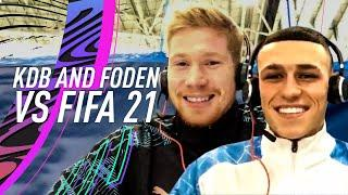 Who is REALLY faster, Kyle Walker or Raheem Sterling? | Kevin De Bruyne and Phil Foden vs FIFA 21