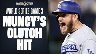 Max Muncy knocks CLUTCH 2-run hit to put Dodgers up early in World Series Game 3!