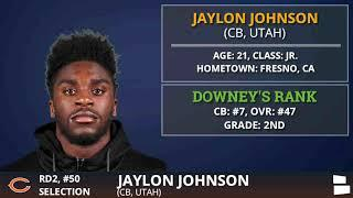 Chicago Bears Select CB Jaylon Johnson From Utah With Pick #50 In 2nd Round of 2020 NFL Draft