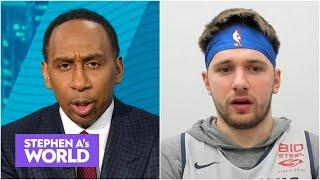 Luka Doncic tells Stephen A. he doesn't think he's playing that well | Stephen A's World