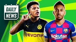 Aubameyang to LEAVE for £50 million? + EPL suspended further!  Daily News