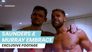 Respect: Billy Joe Saunders visits Martin Murray's dressing room after fight