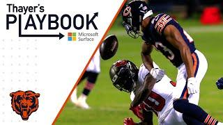 Defensive backs stop Buccaneers in their tracks | Thayer's Playbook | Chicago Bears
