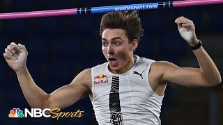 Mondo Duplantis breaks WORLD RECORD with 6.15m pole vault in Rome | NBC Sports