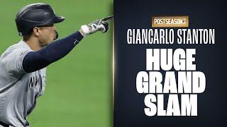 Giancarlo Stanton launches GRAND SLAM to put Yankees WAY up on Rays in ALDS Game!