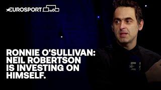 Ronnie O'Sullivan heaps praise on Neil Robertson after dominant UK Championship display! | Eurosport