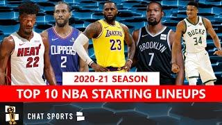 Top 10 NBA Starting Lineups For The 2020-21 Season