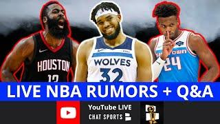 NBA Rumors: James Harden Trade, Buddy Hield Trade Rumors & Karl-Anthony Towns Leaving? + LIVE Q&A