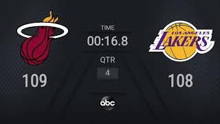Heat @ Lakers Game 5   NBA on ABC Live Scoreboard   #NBAFinals Presented by YouTube TV