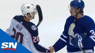 Columbus Blue Jackets And Toronto Maple Leafs Shake Hands After Thrilling Series