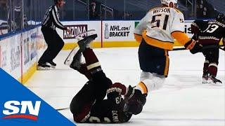 Austin Watson Sends Oliver Ekman-Larsson To Dressing Room With Bone-Crunching Hit