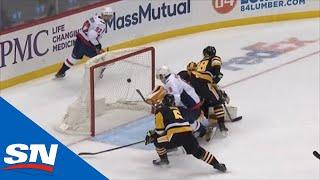 Alex Ovechkin Backhands Rebound Past Casey DeSmith For First Goal Of Season