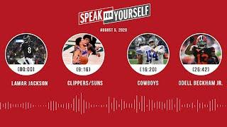 Lamar Jackson, Clippers/Suns, Cowboys, Odell Beckham Jr. (8.5.20) | SPEAK FOR YOURSELF Audio Podcast