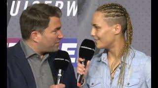 LOL! - EDDIE HEARN HAS A COMPLETE NIGHTMARE AS FEMALE FRENCH FIGHTER IS TOTALLY PUZZLED BY QUESTIONS