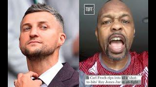 'SHOW ME THAT I AM SHOT TO BITS!' - ROY JONES JR AGGRESSIVELY CALLS OUT CARL FROCH FOR WEMBLEY FIGHT