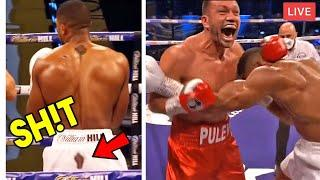 JOSHUA vs PULEV|  *TOP 5 CRAZY MOMENTS YOU MISSED*- TAUNTING, GRANITE CHIN, BRAWLS, FOULS