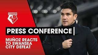 MUÑOZ REACTS TO SWANSEA CITY DEFEAT | PRESS CONFERENCE