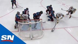 Nicolas Roy Bangs In Greasy Goal After Philipp Grubauer Can't Get Back To Net In Time