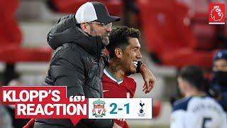 Klopp's Reaction: Late goals, Firmino's confidence & Rhys Williams | Liverpool vs Spurs
