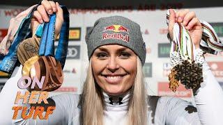 Lindsey Vonn powered by self-confidence, hard in as skier | On Her Turf | NBC Sports