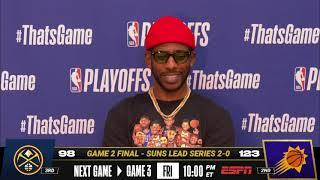 CP3 on the Suns Taking Game 2!  | Postgame Press Conferences