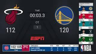 Heat @ Warriors | NBA on ESPN Live Scoreboard