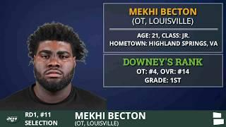 2020 NFL Draft: New York Jets Select OT Mekhi Becton From Louisville With Pick #11 In 1st Round