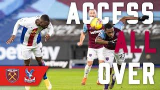 Pitch side camera! BENTEKE GIVEN SECOND YELLOW & PALACE DRAW | Access All Over West Ham (A)
