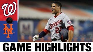 Asdrúbal Cabrera's five RBIs leads Nats to win   Nationals-Mets Game Highlights 8/10/20