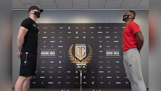 FIRST FIGHT UP AT CRUISERWEIGHT FOR THE QUIET MAN - STEVEN WARD v JONE VOLAU WEIGH IN & HEAD-TO-HEAD