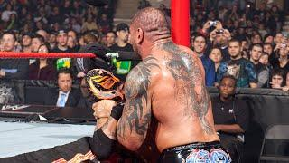 Batista unleashes shocking attack on Rey Mysterio: WWE Bragging Rights 2009